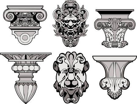 colonna romana: Decorazione architettoniche romane  Vettoriali