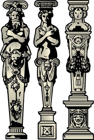 carve: Romano, en griego pilares
