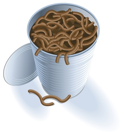 Open Can of Worms Vector