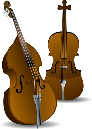 cellos: illustration of 2 Cellos Illustration