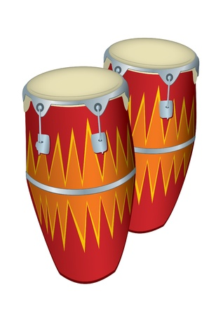 bongo drum: illustration of 2 Congas