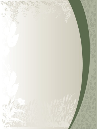 mint leaves: Floral Silhouette Cover Illustration