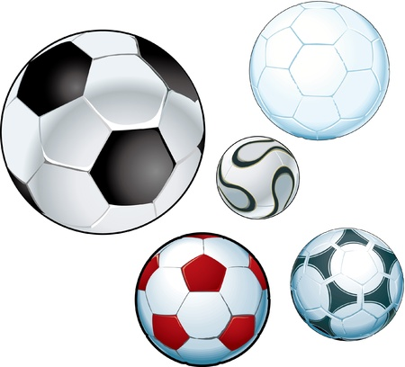 Collection of footballs