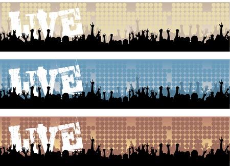 concierto rock: Banners de concierto en vivo