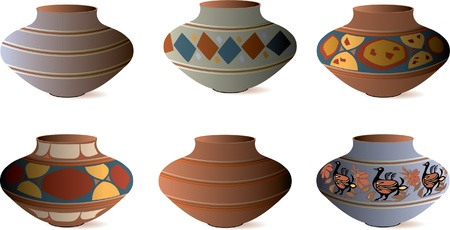 stoneware: Clay Pottery Collection Illustration