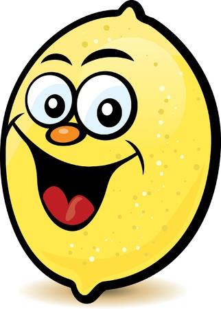 limon caricatura: Feliz personaje de limón