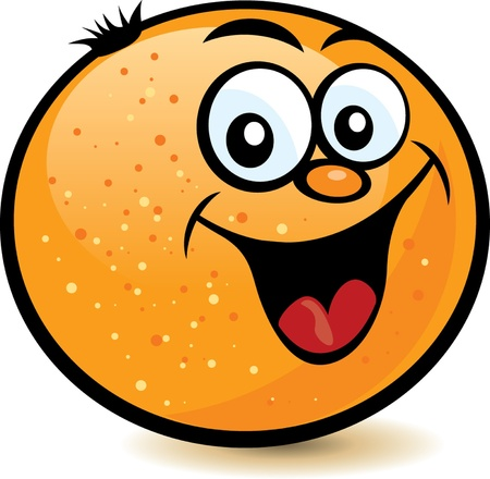 orange cartoon: Happy Orange Character
