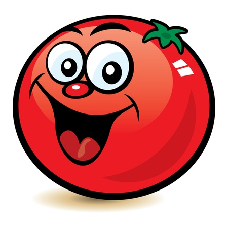 tomato cartoon: Happy Tomato Character