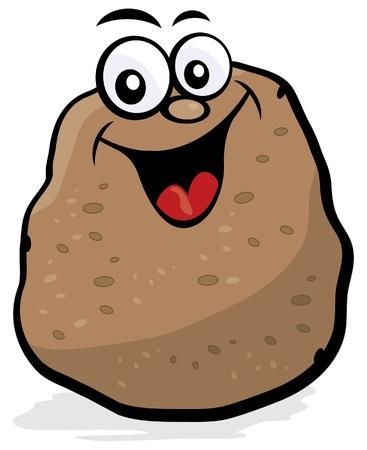 potato: Happy Potato Character