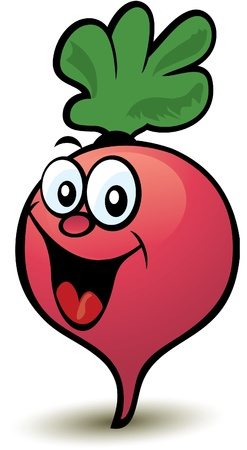 Happy Radish Character Stock Vector - 10356520