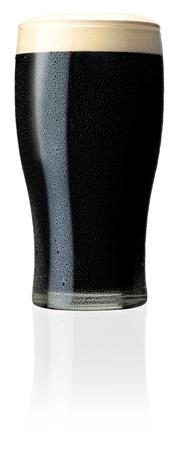 cerveza negra: Pinta de cerveza negra irlandesa Proyecto