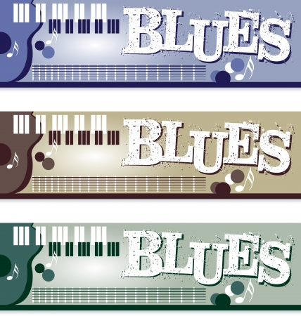 Blues Banners Vector