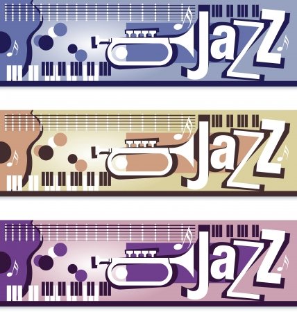 Jazz Banner Set Vector