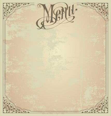 ornament menu: Menu design template