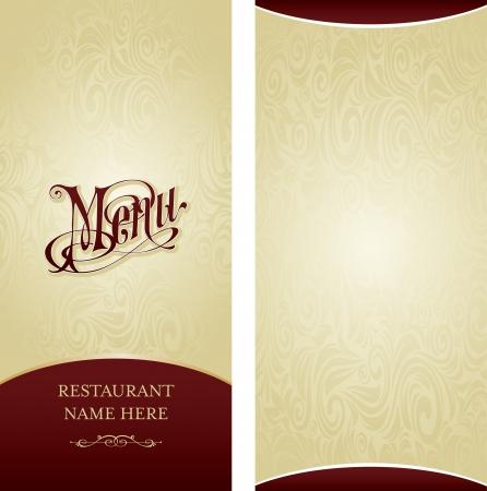 menu restaurant: Mod�le de conception Menu