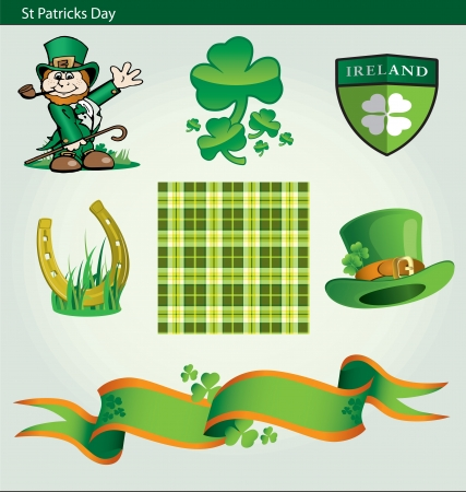 Collection of design elaments for St Patricks Day Vector