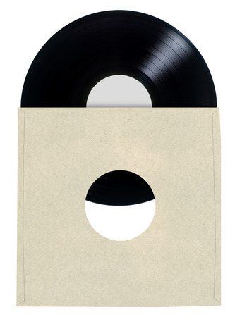 Blank Vinyl Record Sleeve       photo