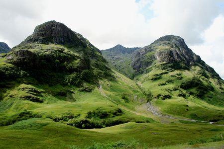 glencoe: Glencoe Highlands in Scotland