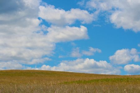 静かな草原ビュー 写真素材