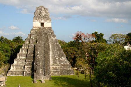 guatemala: Jaguar Temple at Tikal Stock Photo