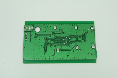 green printed circuit board pcb without any components soldered on it Stock Photo - 8532497