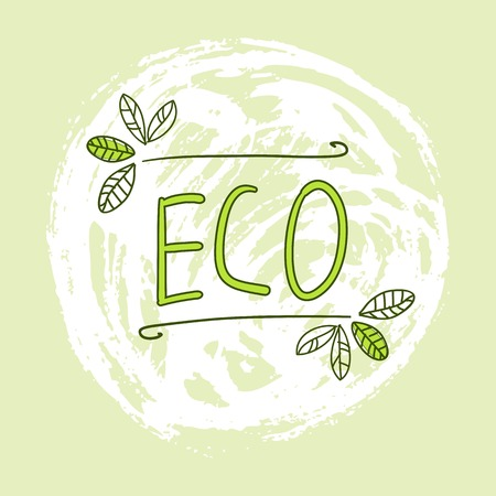 Hand Drawn Vector Elements. Eco. Can be used for ads, signboards, identity and web designs.