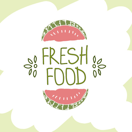 be the identity: Hand Drawn Vector Element. Fresh Food. Can be used for ads, signboards, identity and web designs