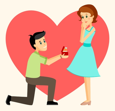 marriage proposal: Man makes marriage proposal to girlfriend