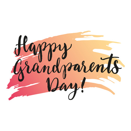 brushstroke: Festive print Happy grandparents day on gradient brushstroke on the background.