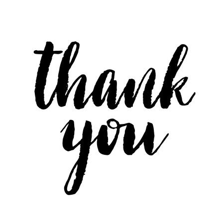 agradecimiento: Gracias moderna de impresi�n cepillo de letras. Aislado en el fondo blanco.