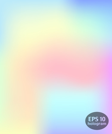 Hologram colorful background. Trendy modern design for print, web design, filling silhouettes or greeting cards.