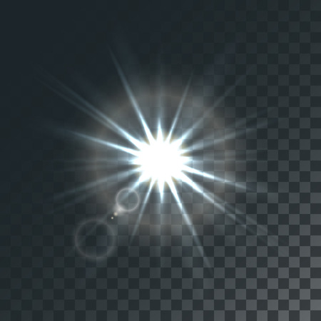 Vector sun with light effects and hotspots