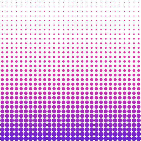 purple wallpaper: Halftone colorful pattern. Dotted wallpaper from pink to purple colors on white background. Illustration