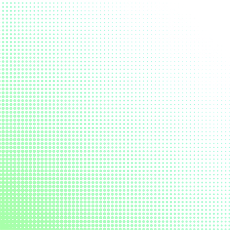 tints: Halftone colorful pattern. Dotted wallpaper in light green tints on white background.