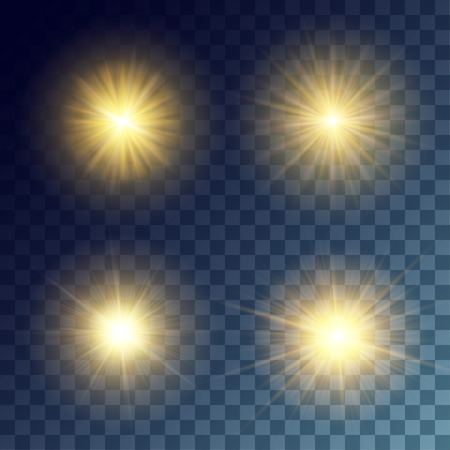 suns: Simple vector yellow suns on transparent background. Release clipping mask for work.