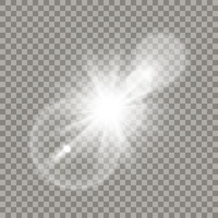 White lens flare effect.