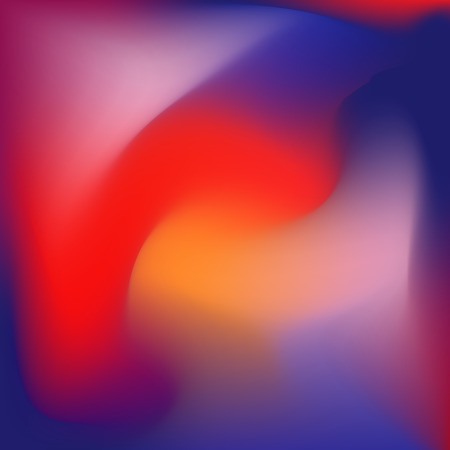 Colorful gradient background, blue red and orange tints. Fantasy liquid shapes.