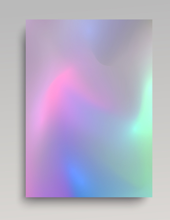Realistic glowing hologram paper backdrop for cards, invitations, posters and web design. Vector illustration.  イラスト・ベクター素材