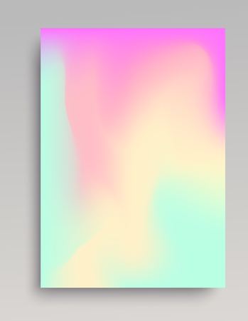 Pastel colored gradient background. Smooth transitions of turquoise, pink and yellow. Vector illustration.