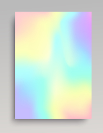 Plain iridescent gradient backdrop with smooth organic transitions of color. Vector illustration.