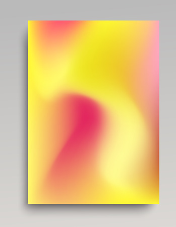 Organic gradient background for print and web design. Smooth transitions of pink and yellow colors. Vector illustration. 写真素材 - 97925166