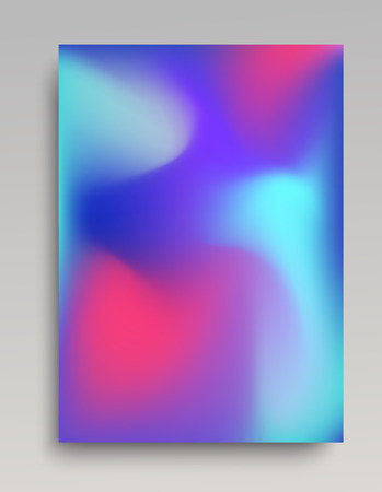 Blue colored gradient background with pink accents. Blurred patterns Vector illustration.