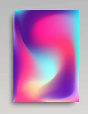 Folded gradient backdrop in candy colors. Realistic smooth transitions.