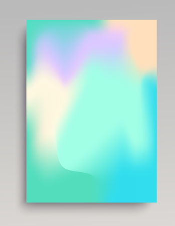 Smooth cold colored gradient backdrop. Bluish green flows. Vectores
