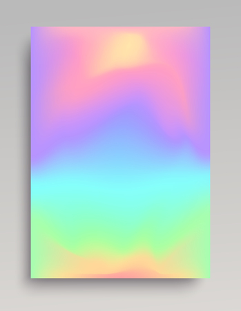 Liquid iridescent gradient background. Smooth transition of colors.