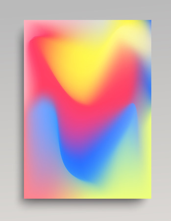 Colorful vertical poster in red, blue and pink. Smooth and natural gradient stains.