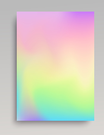 Plain iridescent vertical gradint backdrop. Smooth color transitions.  イラスト・ベクター素材