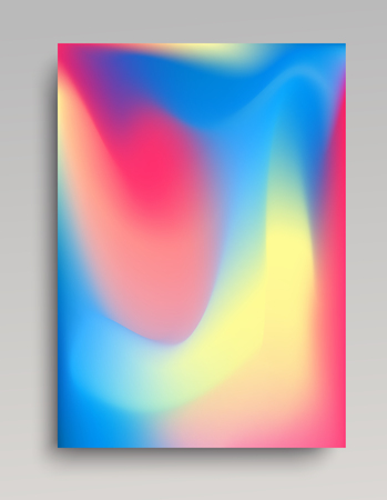 Pastel colored gradient background with realistic liquid waves. Volumetric flowings.