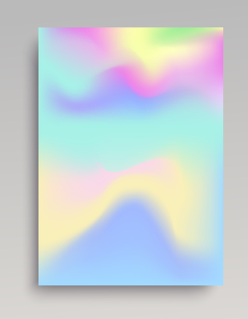 Wavy cold colored gradient backdrop. Smooth organic volume.