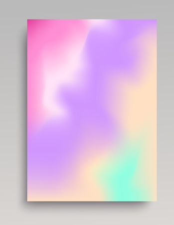 Light gradient vertical poster. Organic mixing of colors.